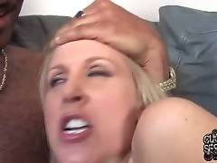 Hot Breasted Milf Enjoys Two Huge Black Dicks 2