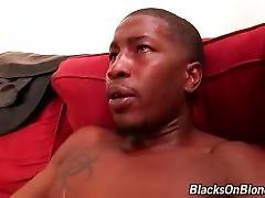 Attractive Blonde Jumps On Big Black Dick 3