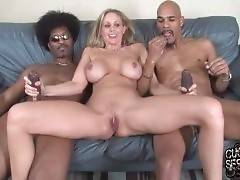 Julia Ann Wants Her Cuckold Taste Black Men Cum 1